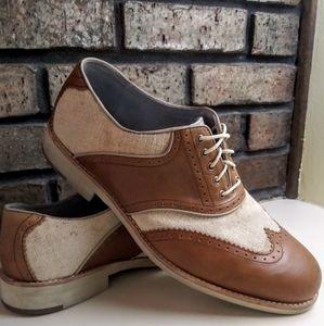 Johnston & Murphy Ellington Linen/Leather Wingtip
